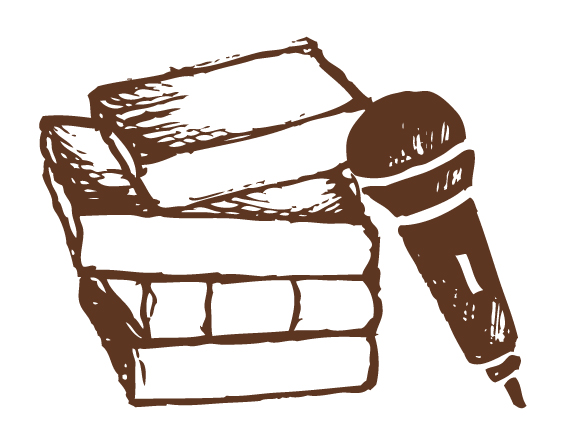 books and mic